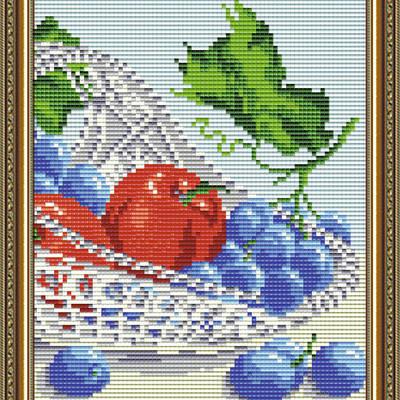 Набор в технике алмазная вышивка В хрустале. Виноград с яблоками. Диптих 2