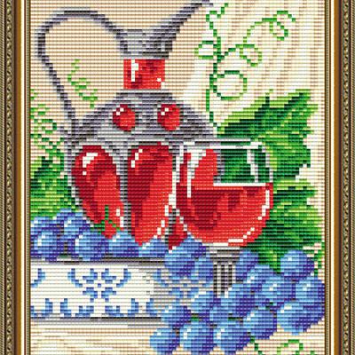 Набор в технике алмазная вышивка Вино в бокале