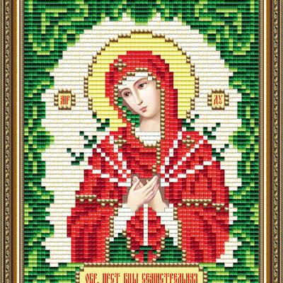 Набор в технике алмазная вышивка Икона Богородица Семистрельная