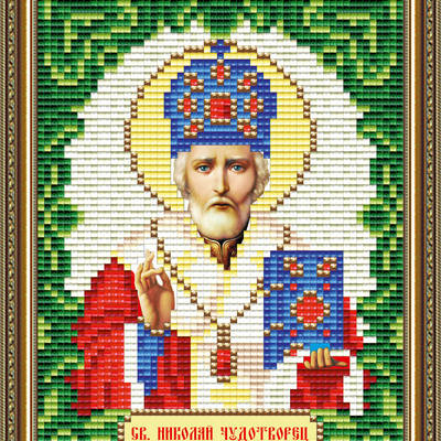 Набор в технике алмазная вышивка Икона Николай Чудотворец