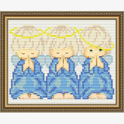 Набор в технике алмазная вышивка Три ангелочка