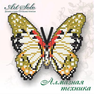 Набор в технике алмазная вышивка магнит-бабочка Белая леди Анголы