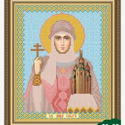 Схема для вышивки бисером Икона Святая Ольга