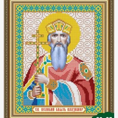 Схема для вышивки бисером Икона Владимир Великий
