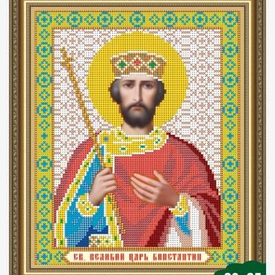Схема для вышивки бисером Икона Константин Великий