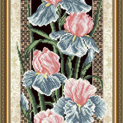 Схема для вышивки бисером Ирисы