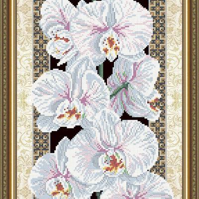 Схема для вышивки бисером Орхидея (на черном)