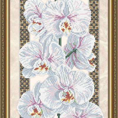 Схема для вышивки бисером Орхидея (на бежевом)