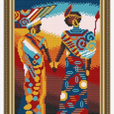Схема для вышивки бисером Африка