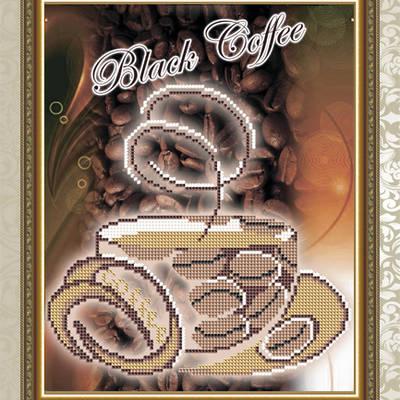 Схема для вышивки бисером Черный кофе