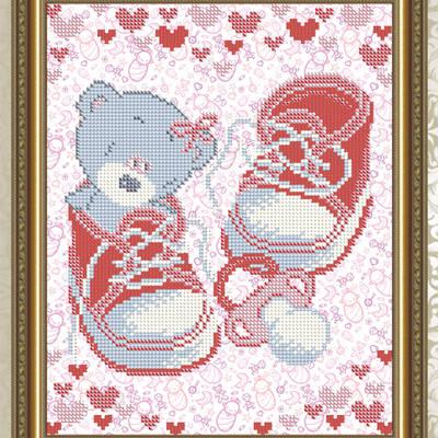 Схема для вышивки бисером С Рождением девочки