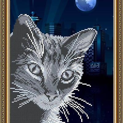 Схема для вышивки бисером Хитрый кот