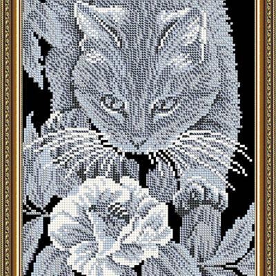 Схема для вышивки бисером Кот и пчелка