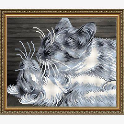 Схема для вышивки бисером Забота