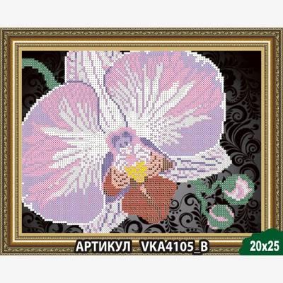 Схема для вышивки бисером Орхидея на черном