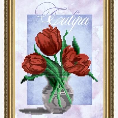 Схема для вышивки бисером Тюльпаны