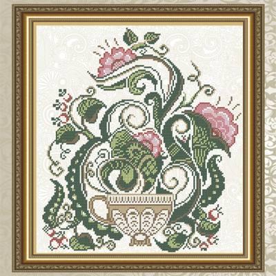 Схема для вышивки бисером Цветочный чай