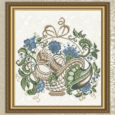 Схема для вышивки бисером Пасхальная корзинка