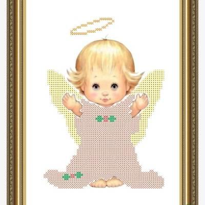 Схема для вышивки бисером Ангелочек
