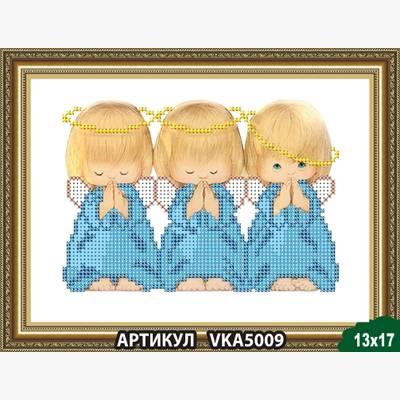 Схема для вышивки бисером Три ангелочка