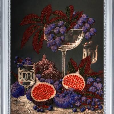 фото: картина для вышивки бисером Натюрморт с инжиром