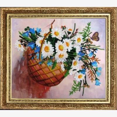 Набор для вышивки бисером Корзинка с цветами