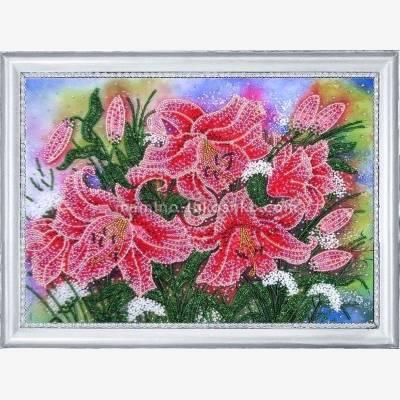 Набор для вышивки бисером Сияющие лилии