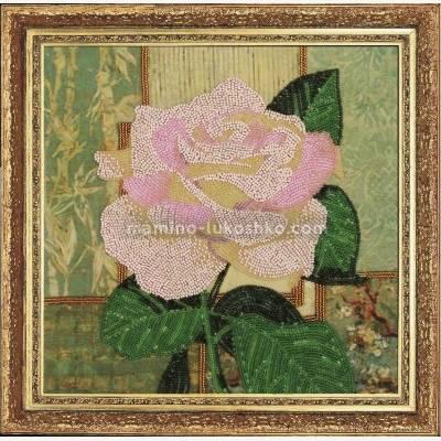 Набор для вышивки бисером Белая роза