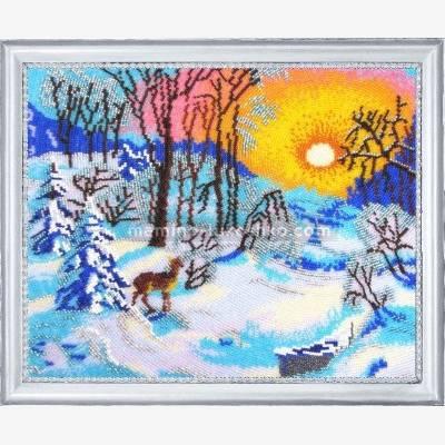 Набор для вышивки бисером Зимнее утро