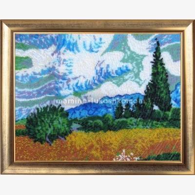 Набор для вышивки бисером Поле с кипарисами (по картине В. Ван Гога)