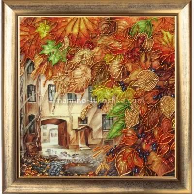 Набор для вышивки бисером Золотой листопад