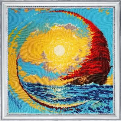 фото: картина для вышивки бисером Парус