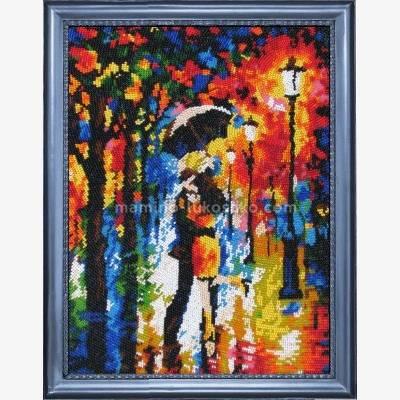 Набор для вышивки бисером Под дождем (по картине Л. Афремова)