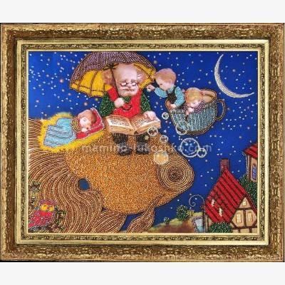 Набор для вышивки бисером Сказка о золотой рыбке