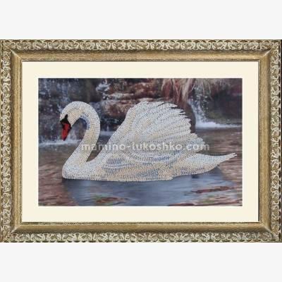 Набор для вышивки бисером Лебедь