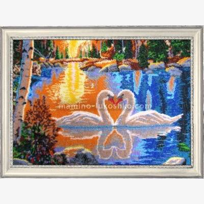 Набор для вышивки бисером Лебеди на закате