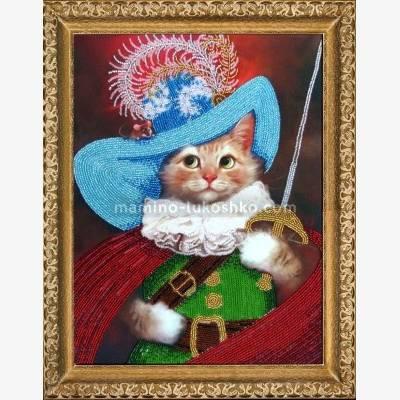 Набор для вышивки бисером Кот в сапогах