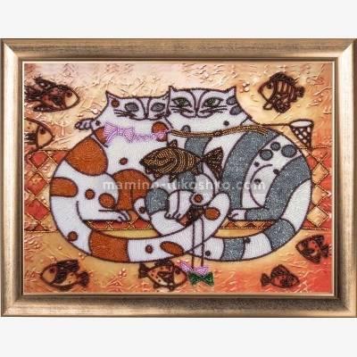Набор для вышивки бисером Кошачья идиллия