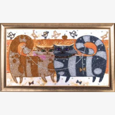 Набор для вышивки бисером Влюблённые коты