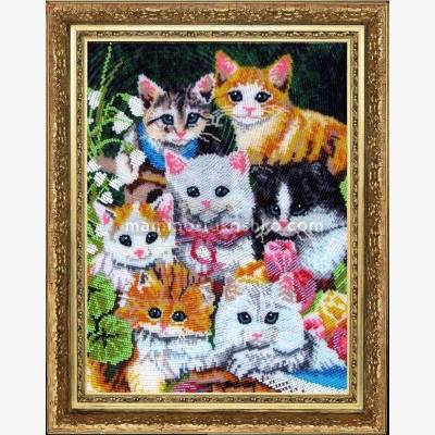 Набор для вышивки бисером Семеро котят