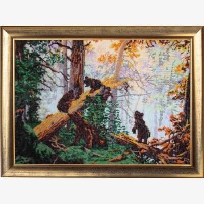 Набор для вышивки бисером Утро в сосновом лесу (по картине И. Шишкина)
