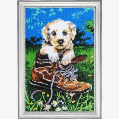Набор для вышивки бисером Шаловливый щенок