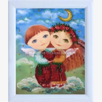 Схема для вышивки бисером Ангелочки влюблены (по картине О. Дарчук)
