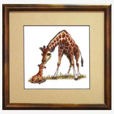 Набор для вышивки крестом &quot,Жирафы&quot,
