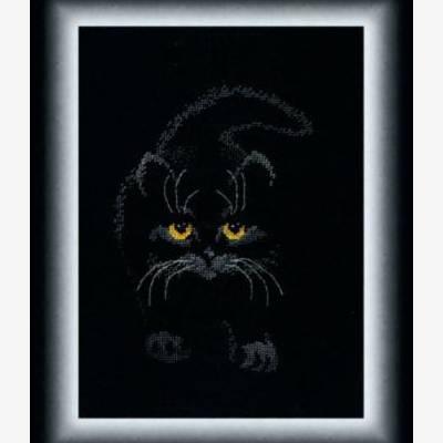 Набор для вышивки крестом Черный кот
