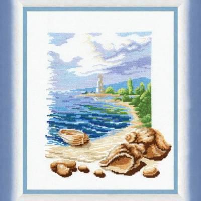 Набор для вышивки крестиком Триптих У моря
