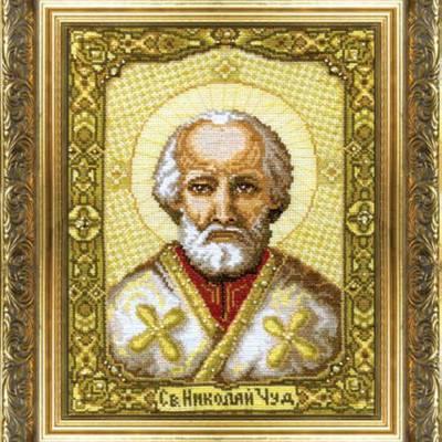 Набор для вышивки крестом Икона Святителя Николая Чудотворца