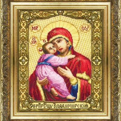 Набор для вышивки крестом Образ Пресвятой Богородицы Владимирская