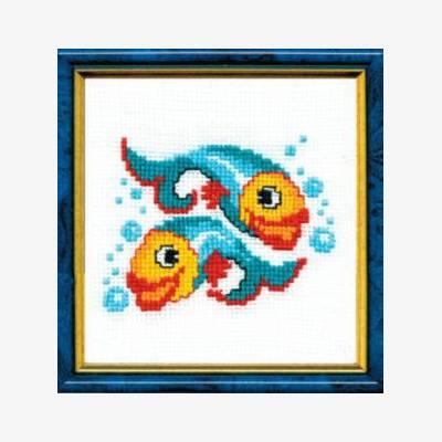 Набор для вышивки крестом Рыбки