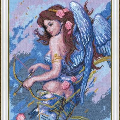 Набор для вышивки крестом По мотивам К. Банга Ангел с луком